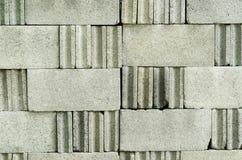 La superficie del bloque del ladrillo se apila contra Fotos de archivo