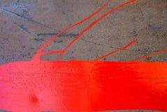 La superficie del ferro è coperta di fondo di struttura della pittura Fotografia Stock
