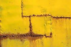 La superficie del ferro è coperta di vecchia struttura della pittura Fotografie Stock