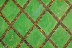 La superficie del ferro è coperta di vecchio fondo della pittura Fotografie Stock