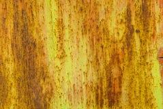 La superficie del ferro è coperta di vecchio fondo della pittura Fotografia Stock Libera da Diritti
