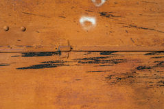 La superficie del ferro è coperta di vecchio fondo della pittura Immagine Stock Libera da Diritti