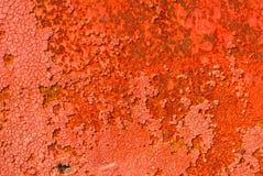 La superficie del ferro è coperta di vecchio fondo di struttura della pittura Fotografia Stock Libera da Diritti
