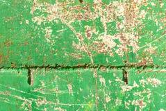 La superficie del ferro è coperta di vecchio fondo di struttura della pittura Immagine Stock Libera da Diritti