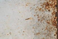 La superficie del ferro è coperta di vecchio fondo di struttura della pittura Immagini Stock Libere da Diritti