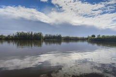 La superficie del lago foto de archivo libre de regalías