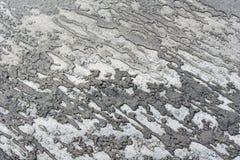 La superficie della polvere della strada Fotografia Stock