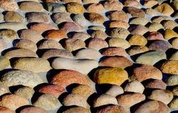 La superficie delle pietre arrotondate Fotografia Stock Libera da Diritti
