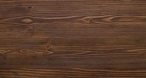 La superficie di legno è colore di marrone scuro Fotografia Stock Libera da Diritti