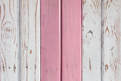 La superficie di legno dipinta in due colori Fotografia Stock Libera da Diritti