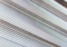 La superficie metallica di alluminio allinea il modello Fotografie Stock