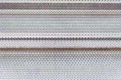 La superficie metallica di alluminio allinea il modello Fotografie Stock Libere da Diritti