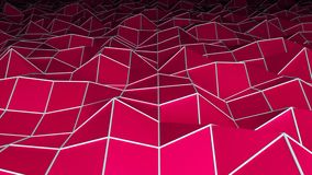 La superficie poligonal baja, fondo abstracto moderno generado por ordenador, 3d rinde stock de ilustración