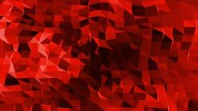 La superficie polivinílica baja roja que agita abstracta como papiroflexia ajardina en diseño polivinílico bajo elegante Fondo po metrajes