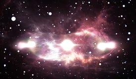 La supernova, explosion d'étoile avec le sablier a formé la bulle du gaz et de la poussière Image libre de droits
