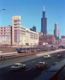 La superstrada Chicago Illinois del Eisenhower Immagini Stock