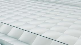 La surface abstraite moderne de grille en métal tournent la vague des cubes argentés lumineux illustration de vecteur