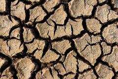 La surface au sol de texture de fissures Photo stock