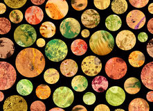 La surface d'autres planètes Marbre de papier cosmique photos libres de droits