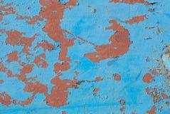 La surface de fer est couverte de vieille peinture, peinture ébréchée, fond de texture Photo libre de droits