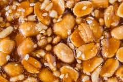 La surface des bonbons à haricot de coupe Photographie stock