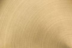 La surface métallique polie d'or Photos libres de droits