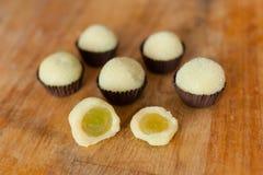La surprise du raisin (dessert brésilien) Image stock