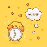 La sveglia con sveglia il segno illustrazione di stock