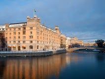 La Svezia. Stoccolma, palazzo di Rosenbad Fotografia Stock