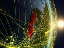 La Svezia su pianeta Terra di reti immagini stock