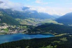 La Svizzera: Aeroporto Samedan, Engadin superiore, Fotografie Stock