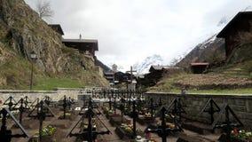 La Svizzera - Blatten Friedhof Fotografia Stock Libera da Diritti