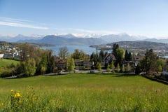 La Svizzera centrale, Lucerna Fotografie Stock