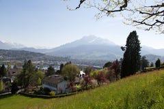 La Svizzera centrale, Lucerna Fotografia Stock Libera da Diritti