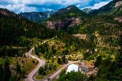 La Svizzera di sud-ovest Colorado Windy Road dell'America Fotografia Stock Libera da Diritti