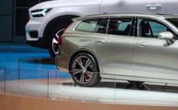 La Svizzera; Ginevra; 8 marzo 2018; Il lato posteriore 60 di Volvo V; Th fotografia stock