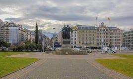 La Svizzera; Ginevra; 8 marzo 2018; Il monumento nazionale in barattolo immagini stock