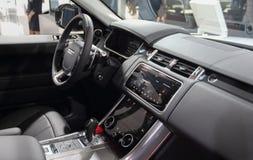La Svizzera; Ginevra; 8 marzo 2018; L'interno di Range Rover; Th fotografia stock