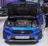 La Svizzera; Ginevra; 8 marzo 2018; Lo STI di Subaru WRX con aperto Fotografia Stock