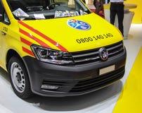 La Svizzera; Ginevra; 8 marzo 2018; Volkswagen giallo metallico V immagine stock