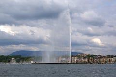 La Svizzera, Ginevra, vista del lago Ginevra Fotografia Stock