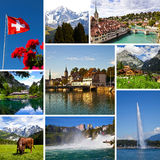 La Svizzera osserva il collage Fotografia Stock Libera da Diritti