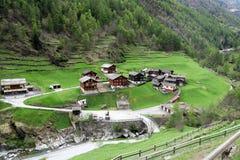 La Svizzera - Wallis Fotografia Stock Libera da Diritti
