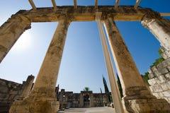 La synagogue de Capernaum Image libre de droits