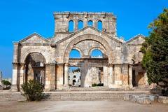La Syrie - église de rue Simeon - Qal'a Sim'an Photographie stock