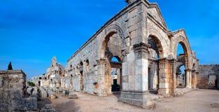 La Syrie - église de rue Simeon - Qal'a Sim'an Photos libres de droits