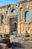 La Syrie - église de rue Simeon - Qal'a Sim'an Images libres de droits