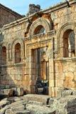 La Syrie - église de rue Simeon - Qal'a Sim'an Image libre de droits