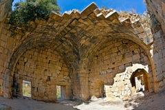 La Syrie - château de Saladin (vacarme d'annonce de Qala'at Salah) Image libre de droits