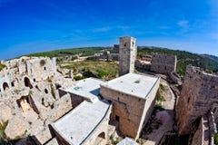 La Syrie - château de Saladin (vacarme d'annonce de Qala'at Salah) Photos stock